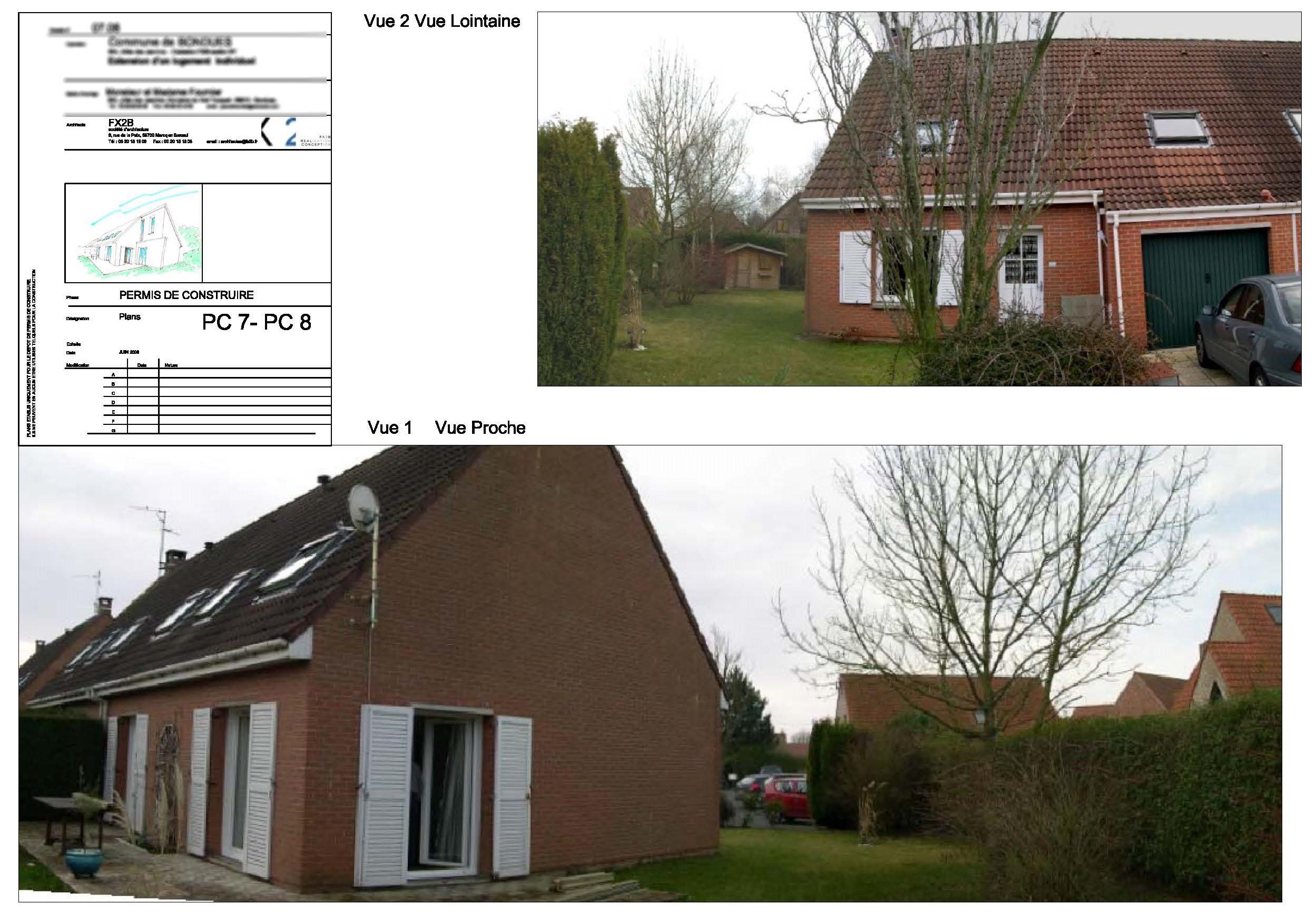Permis de construire bondues 59910 fx2b for Extension maison lotissement