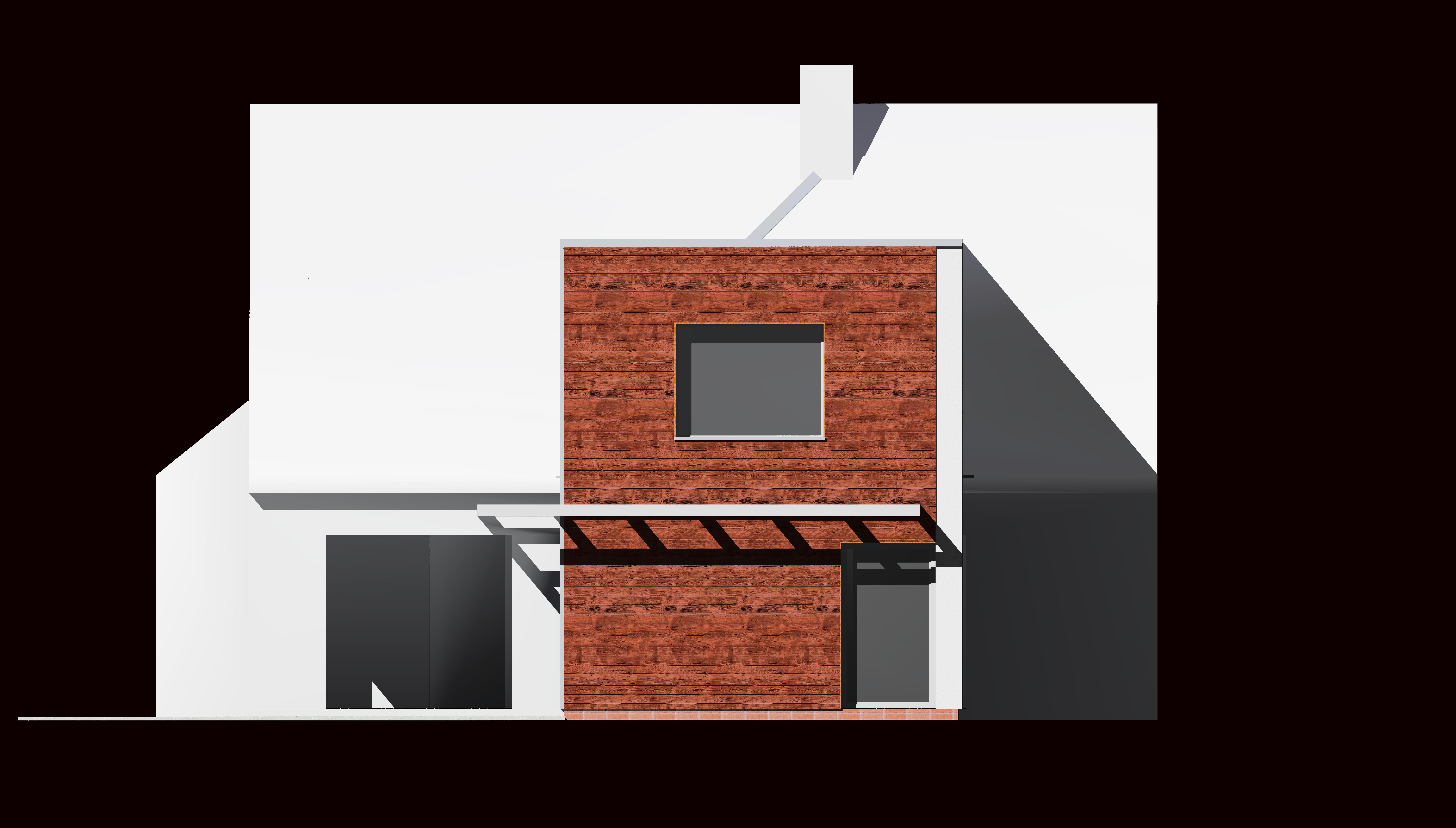 Projet d extension en bois sur 2 niveaux d une maison for Extension bois 2 niveaux
